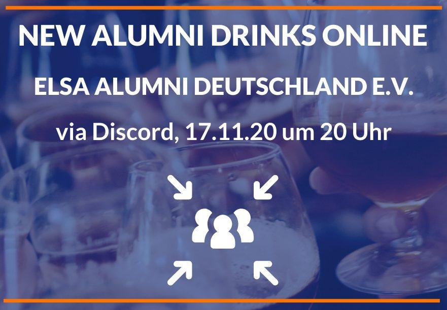New Alumni Drinks online