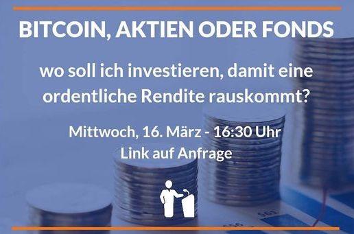Bitcoin, Aktien oder Fonds